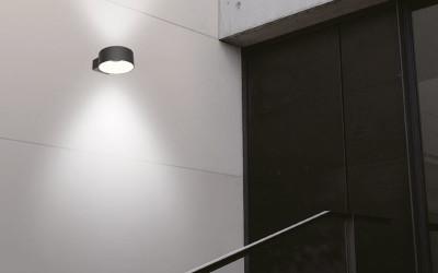LED-Wandleuchte-Vest-rund-beisdseitig-strahlend-Anwendung