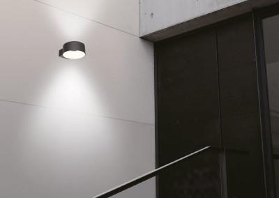 LED Wandleuchte Vest rund beidseitig strahlend Anwendung
