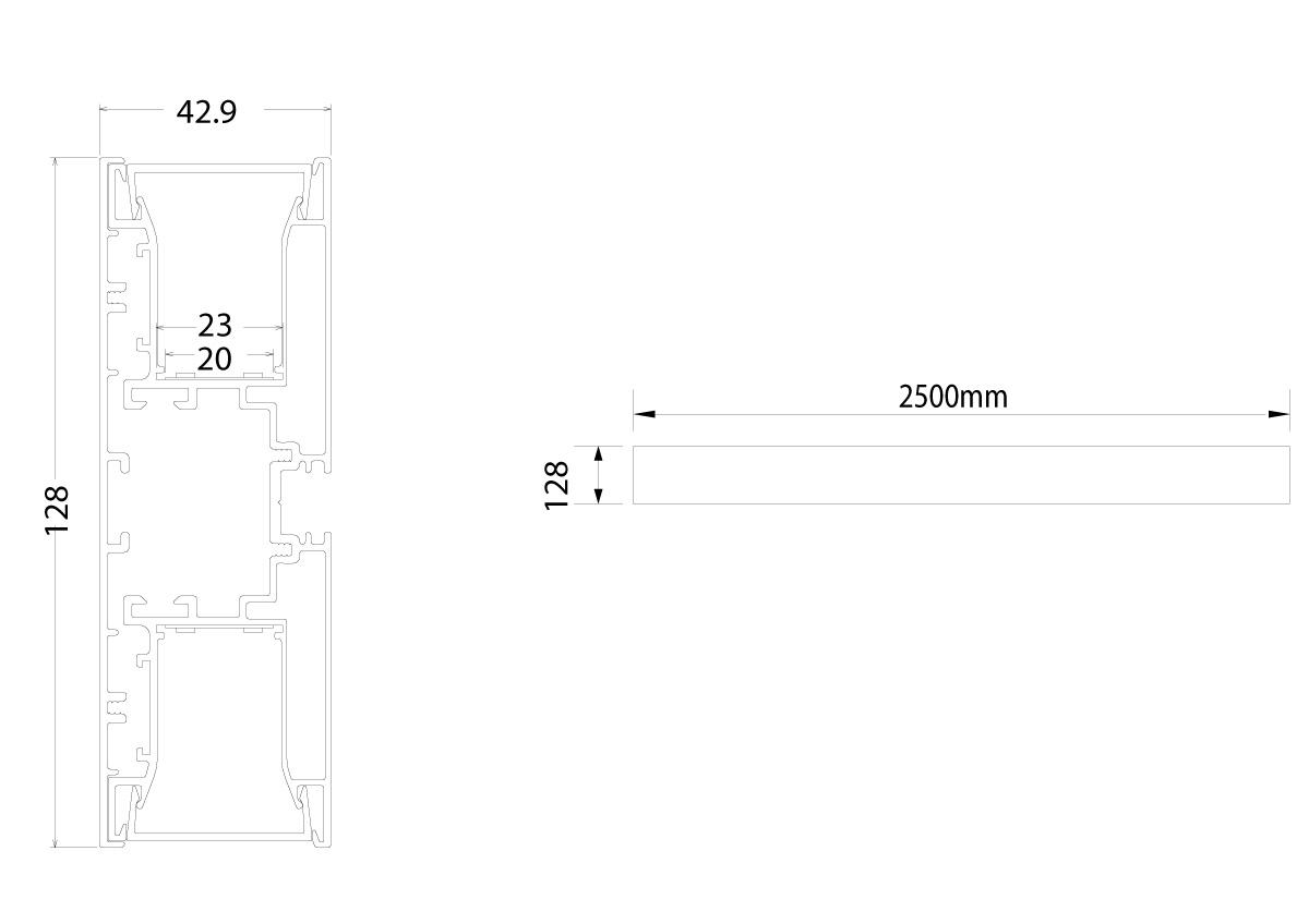 LED Lichtband Wandleuchte LineW