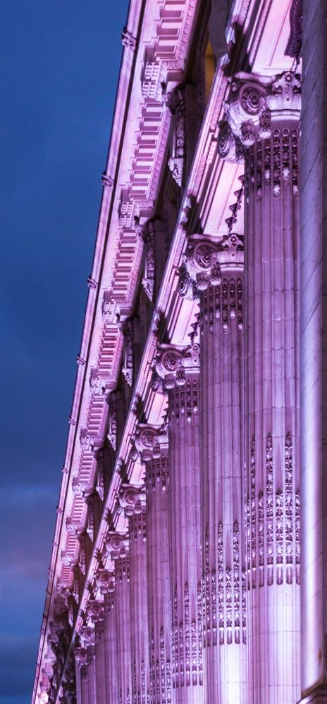 Fassadenstrahler RGB Linea Wallwasher Fassade RGB