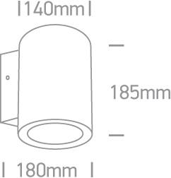 Maxislot Round Fassadenleuchte direkt indirekt strahlend