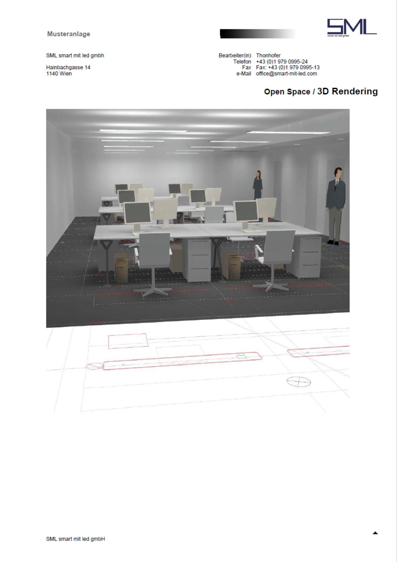 Musteranlagen LED Beleuchtung Büro