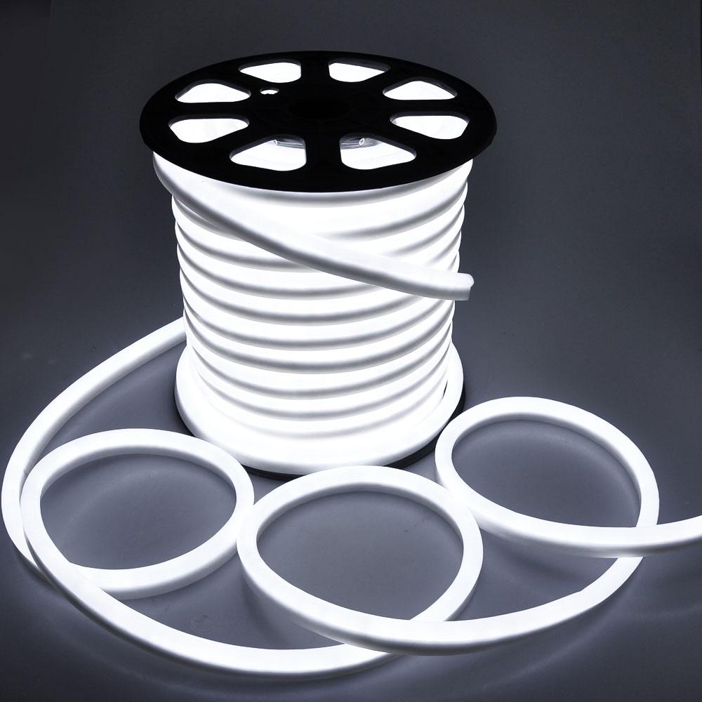 Neon Flex LED Streifen Rolle 100m 230V Anschluss