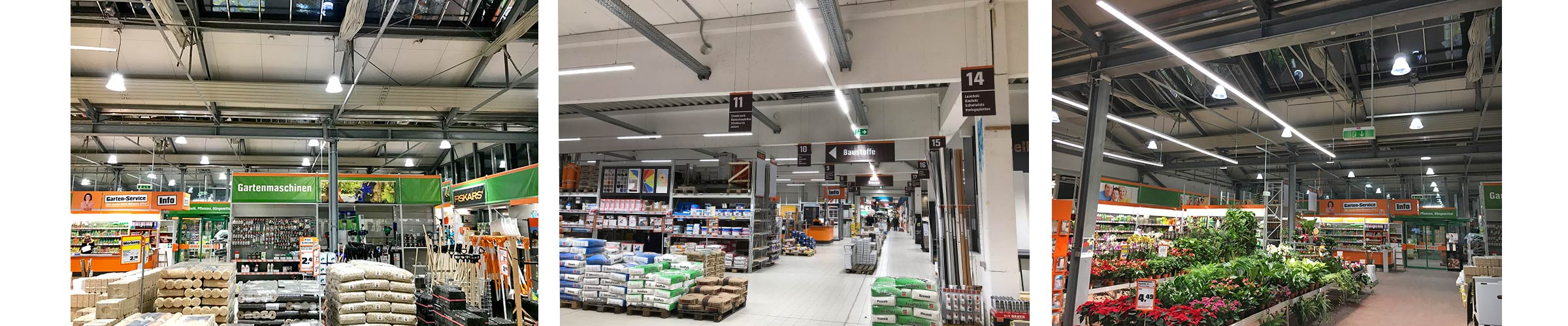 Baumarkt mit SML LED Produkten