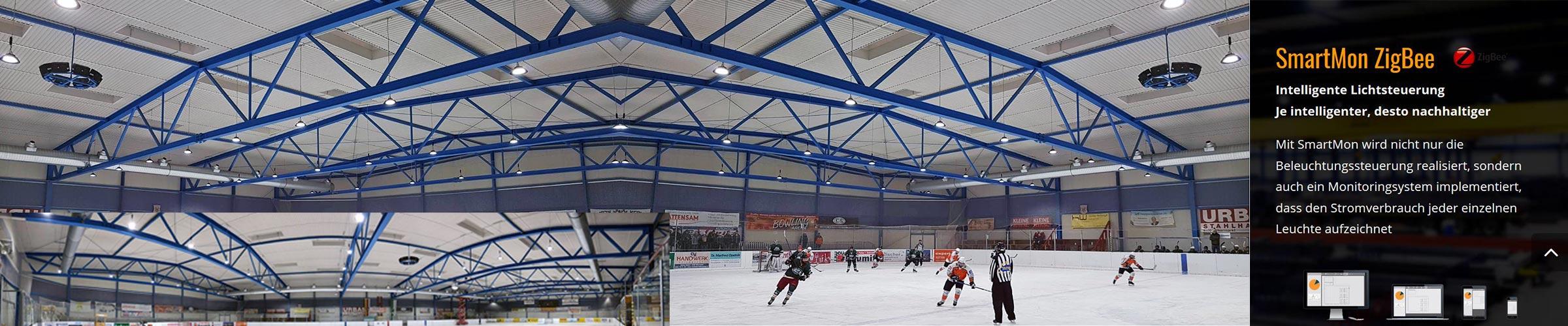 Eishalle mit SML LED Produkten