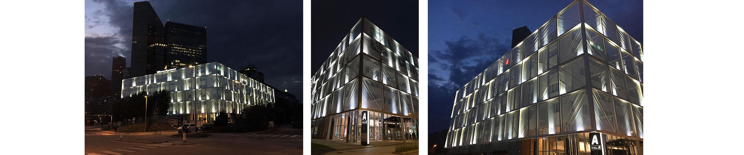 Fassadenbeleuchtung mit SML LED Produkten