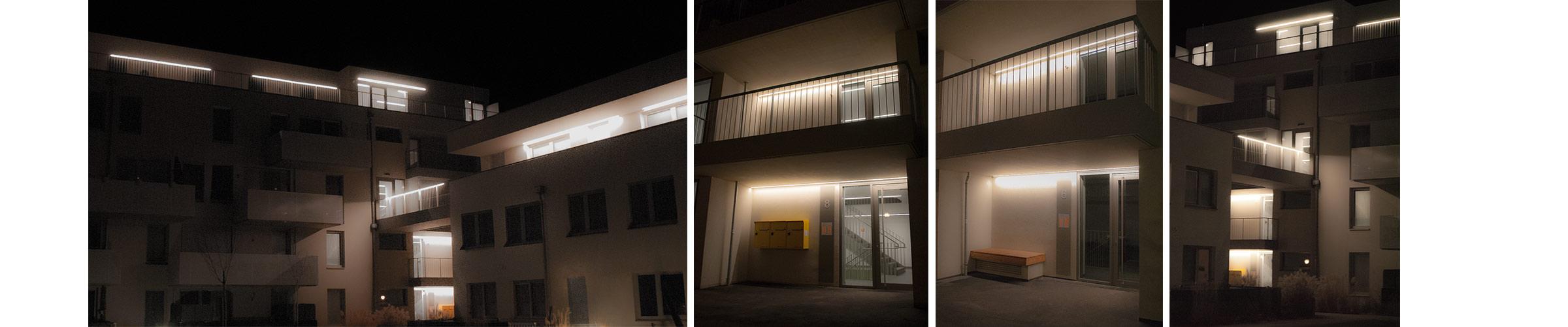 Wohnhausanlage mit SML LED Produkten