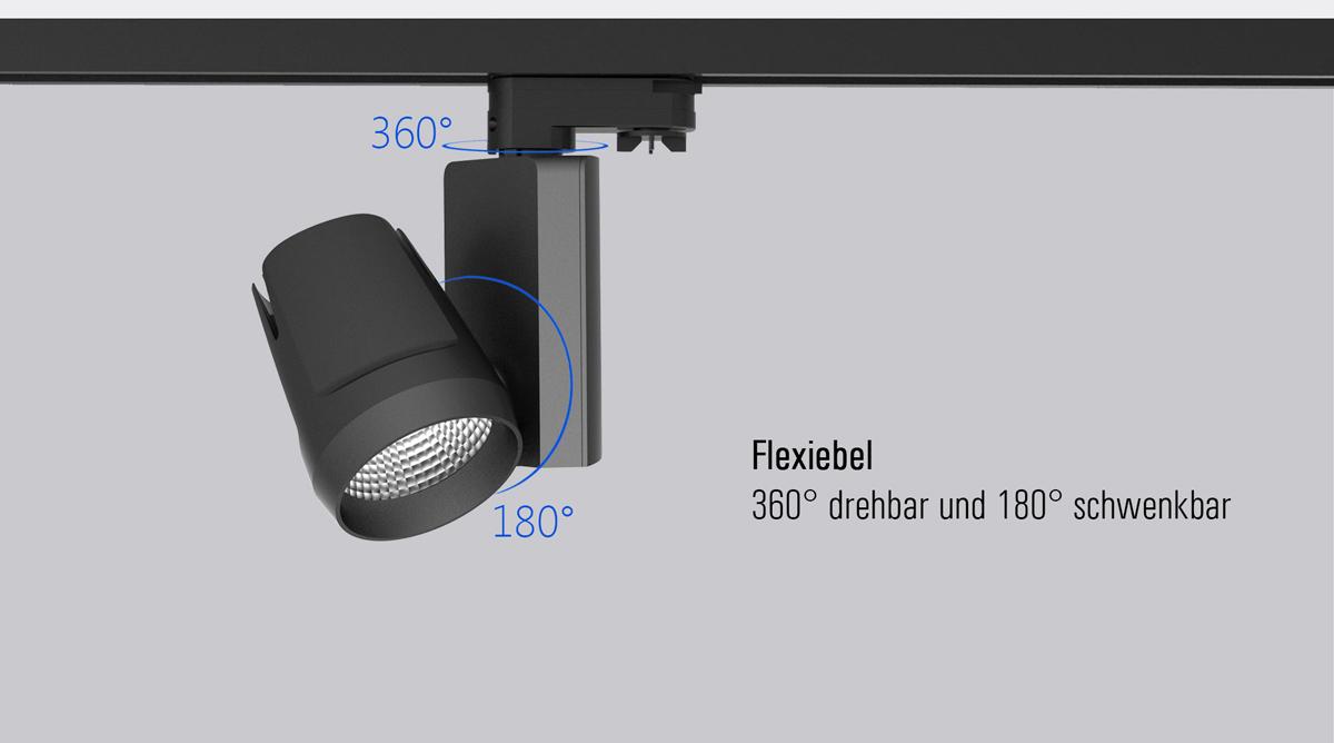 LED Stromschienenstrahler dreh und schwenkbar Samo SML