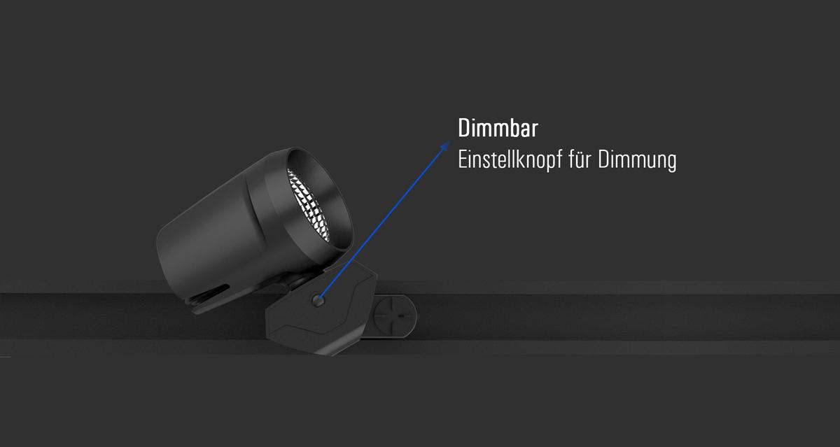 Dimmbarer LED Stromschienenstrahler Samo von SML dimmbar