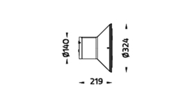 LED Wandleuchte Torro Abmessung DM324