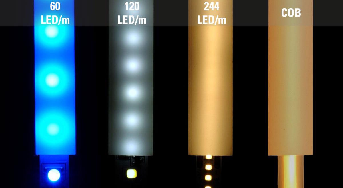 COB LED Streifen Vergleich mit LED Streifen