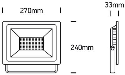 LED Fluter Evito XL Abmessungen
