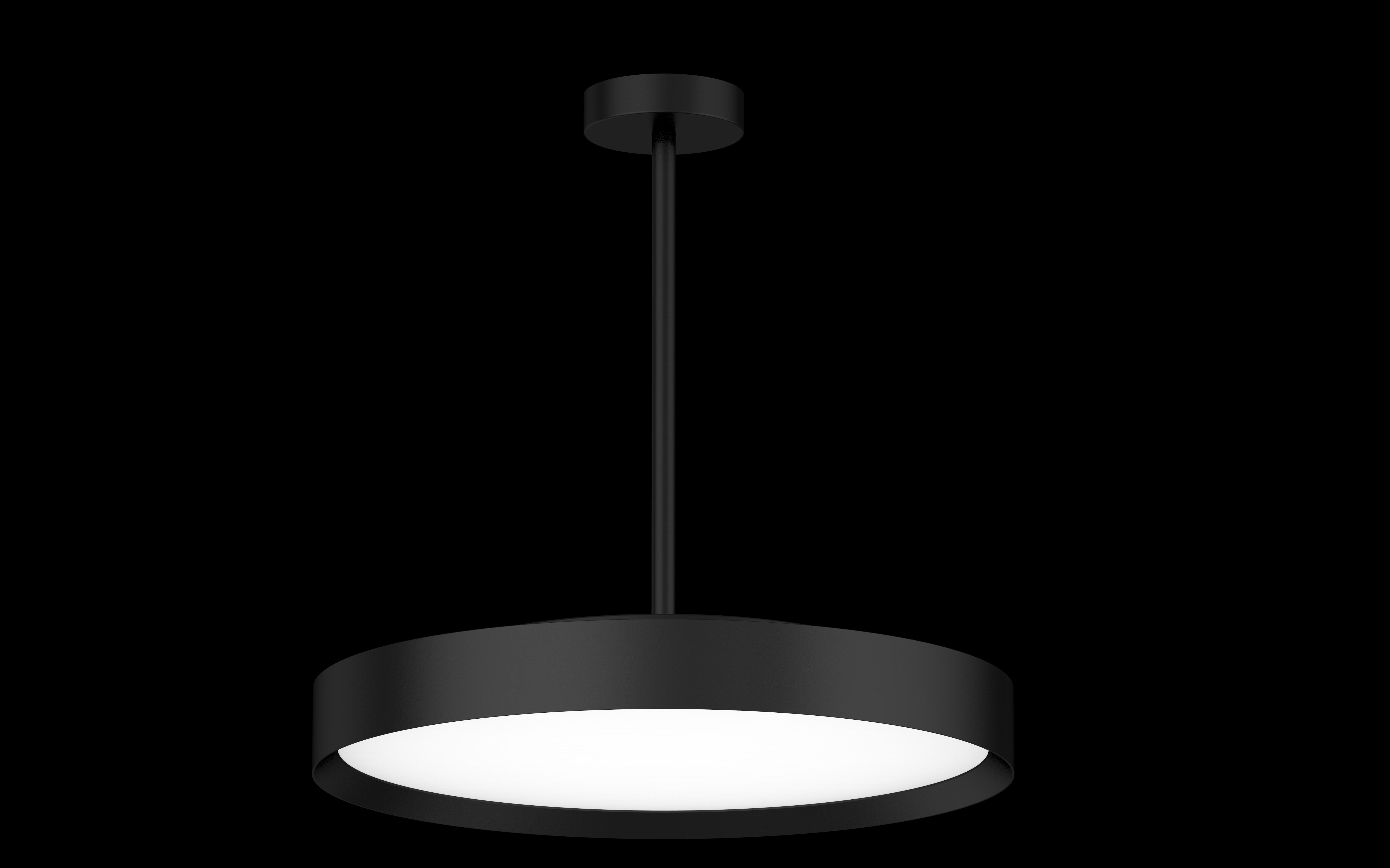 LED Hängeleuchte Rohrabhängung Roma curvy