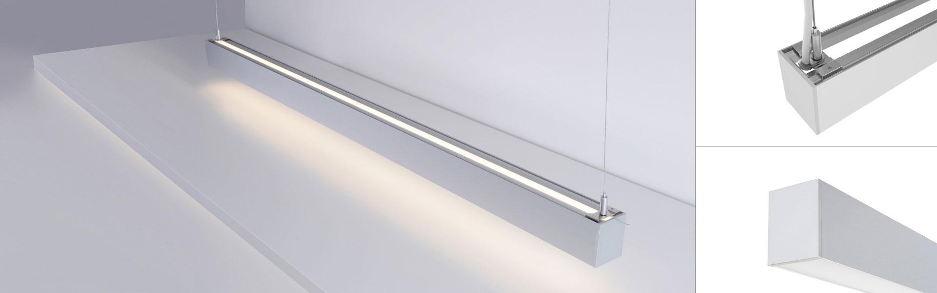 iLine die LED Pendelleuchte direkt indirekt Anwendung