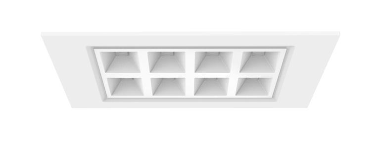 LED Deckenleuchte Ramos mit einstellbarer Lichtfarbe 300x600mm