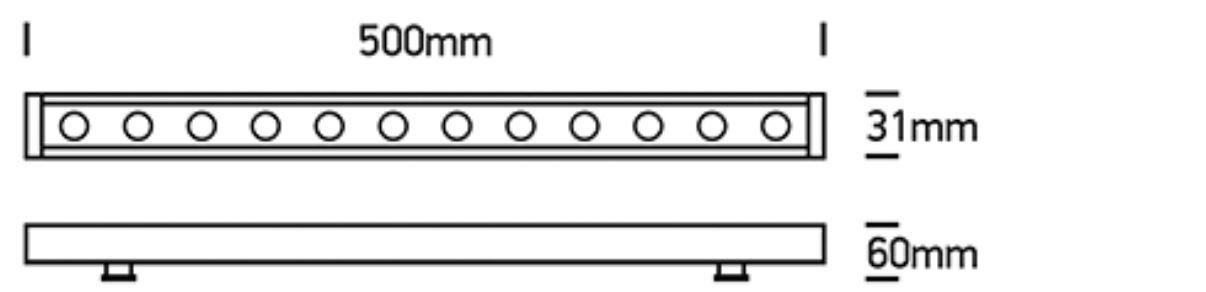 LED Fassadenstrahler Rogano 500mm