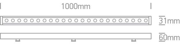 LED Fassadenstrahler Rogano Wallwasher 1000mm