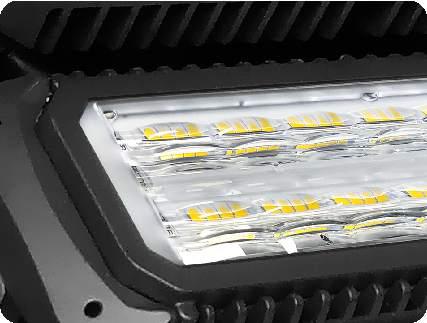 Aufbau LED Fluter Maltos - Linsenoptiken