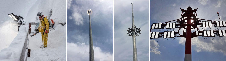 LED Flutlicht Parkplatzbeleuchtung Flughafenbeleuchtung