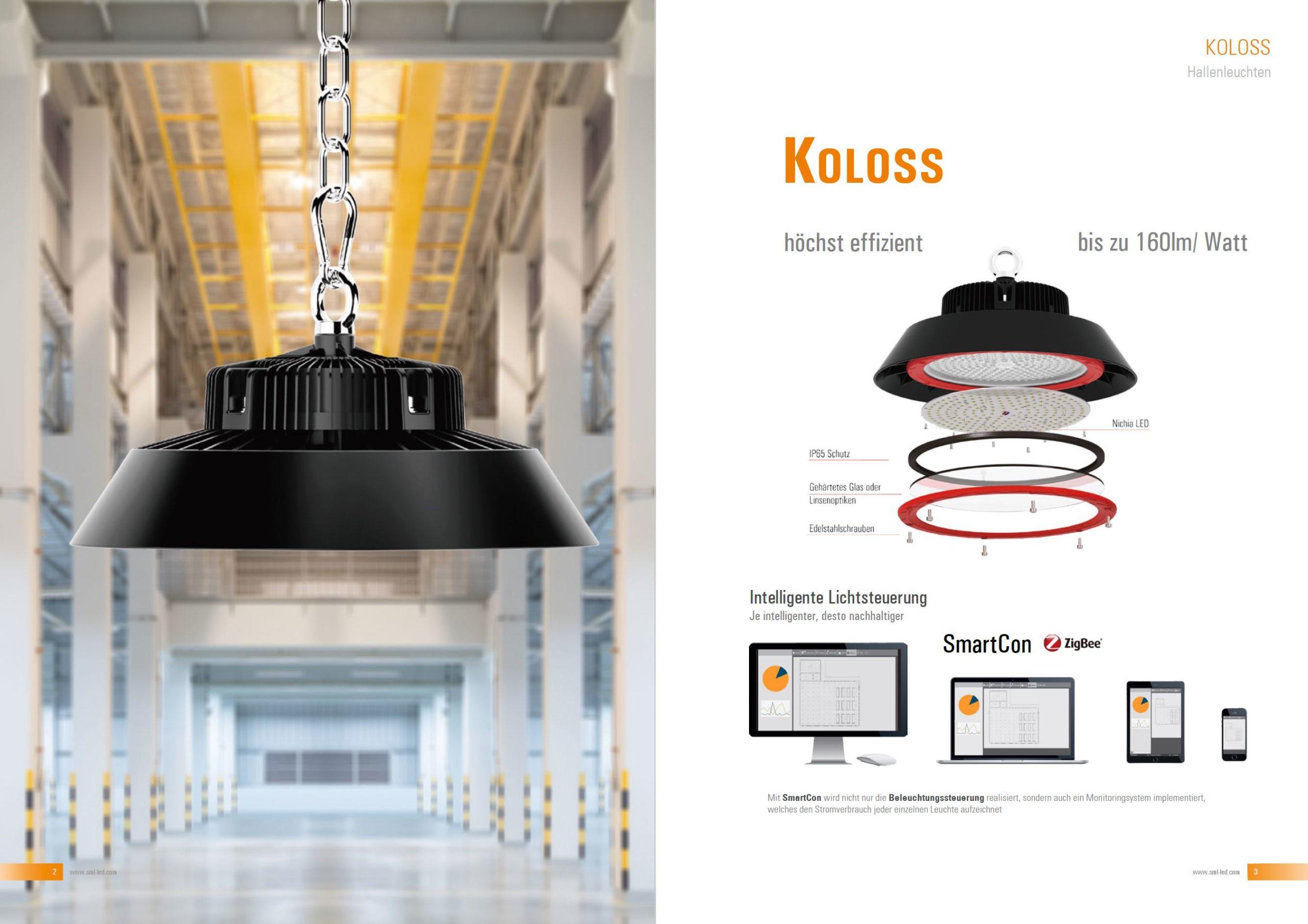 LED Hallenleuchte Koloss für LED Hallenbeleuchtung