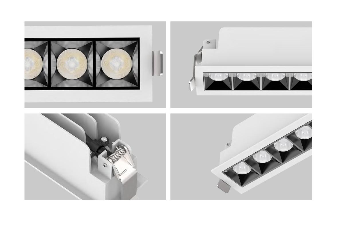 Lineare Einbauleuchte mit Leuchtenmodulen