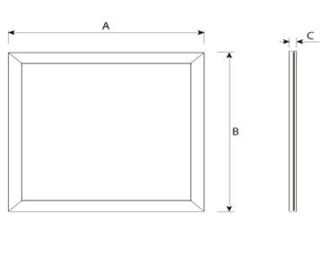 LED Panel Mero IP65 Abmessung