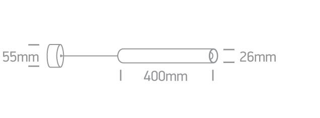 LED Pendelleuchte Dando Abmessungen