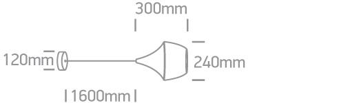 LED Pendelleuchte Kando Abmessungen