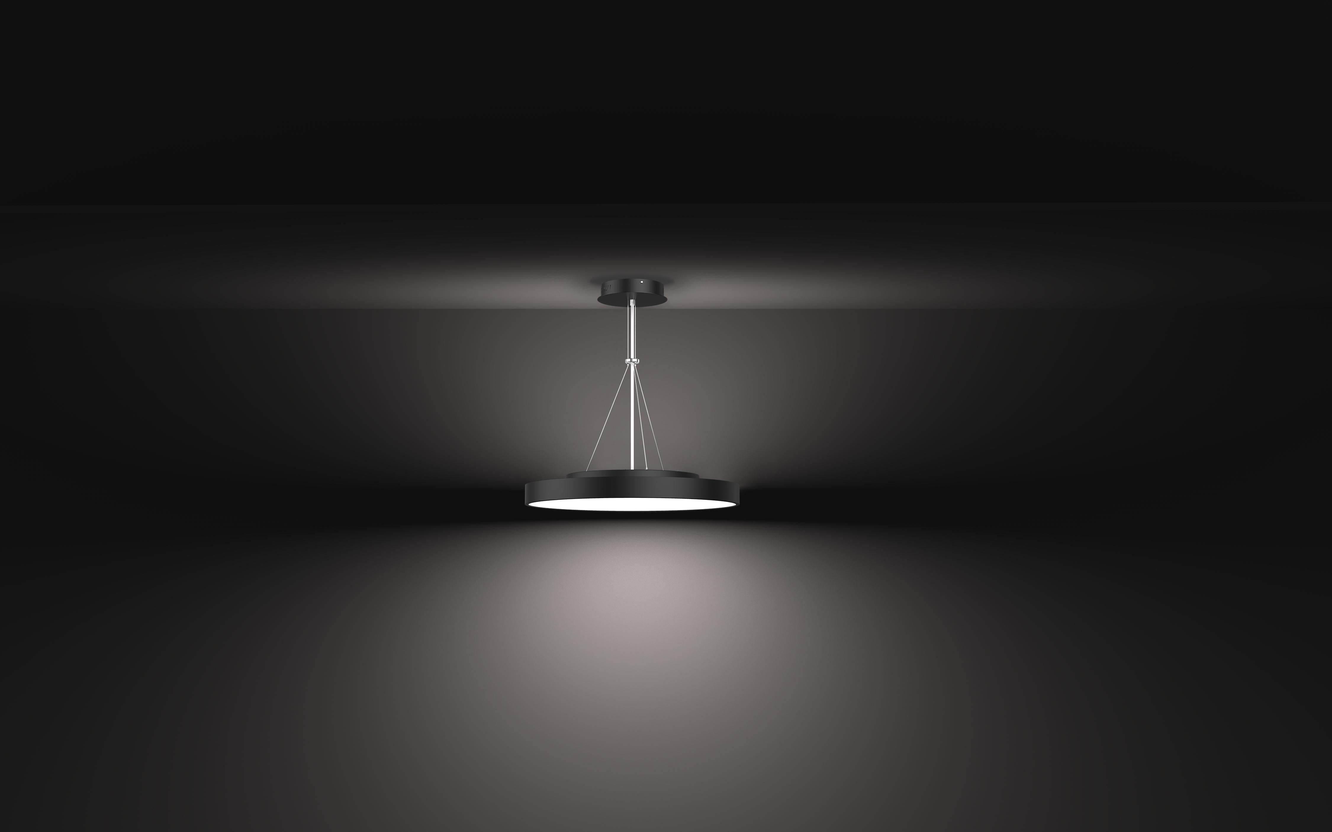 LED Pendelleuchte Roma curvy direkt/indirekt strahlend