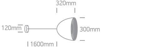 LED Pendelleuchte Sando Abmessung