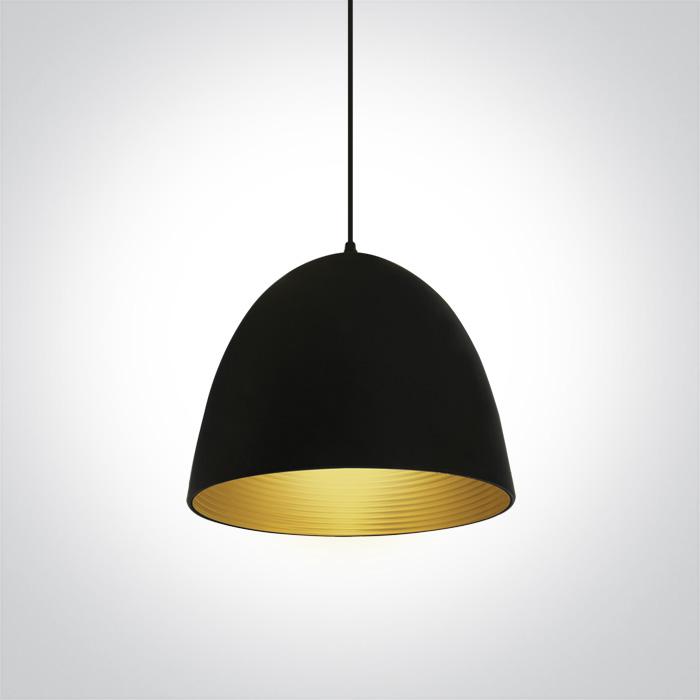 LED Pendelleuchte Sando Schwarz-Messing