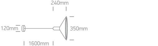 LED Pendelleuchte Tando Abmessung