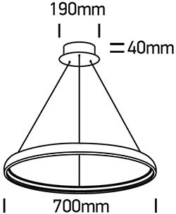 LED Hängeleuchte TUUN