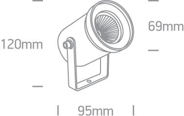 LED Spot Graso 67196A-AN-W IP65 Abmessungen SML LED