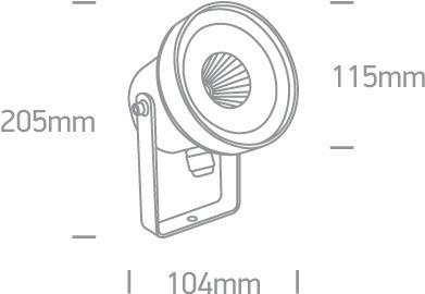 LED Spot Graso 67196C-AN-W IP65 Abmessungen SML LED