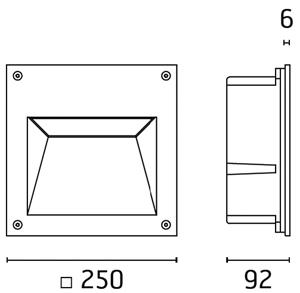 LED Wand-Deckenleuchte Oncasso Abmessung