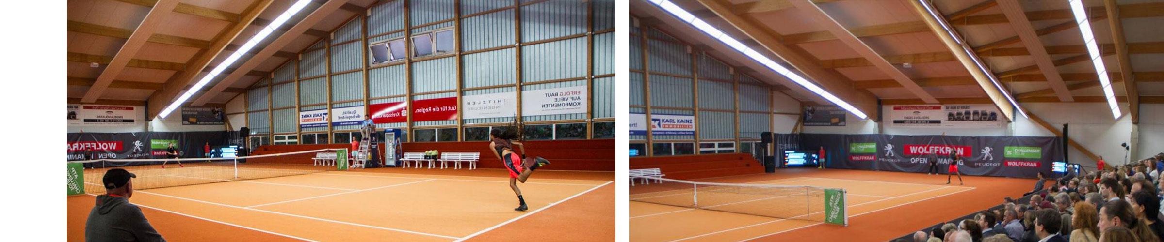 Tennishalle mit SML LED Produkten