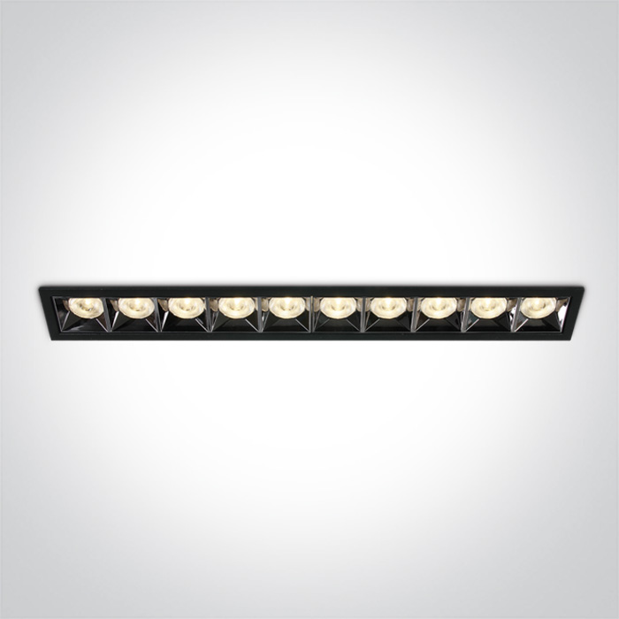 Lineare Einbauleuchte Kolma 10 Module schwarz SML LED