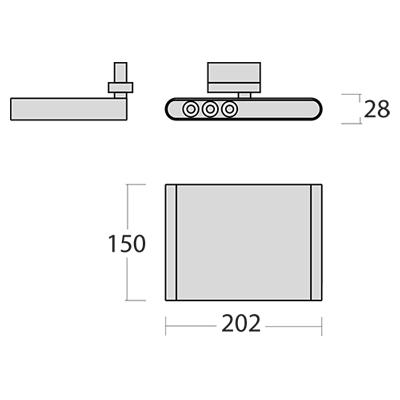 SML LED Stromschienenstrahler Miva Abmessungen