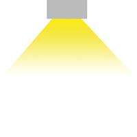 LED Anbauleuchte Mory Abstrahlwinkel