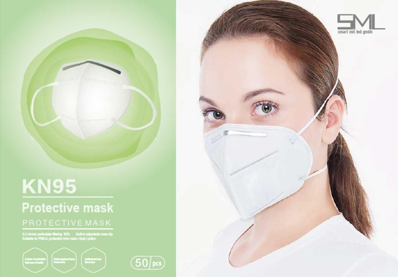 Mundschutzmasken Corona Mundschutz FFP2 COVID Masken KN95