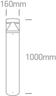LED Pollerleuchte Abmessung
