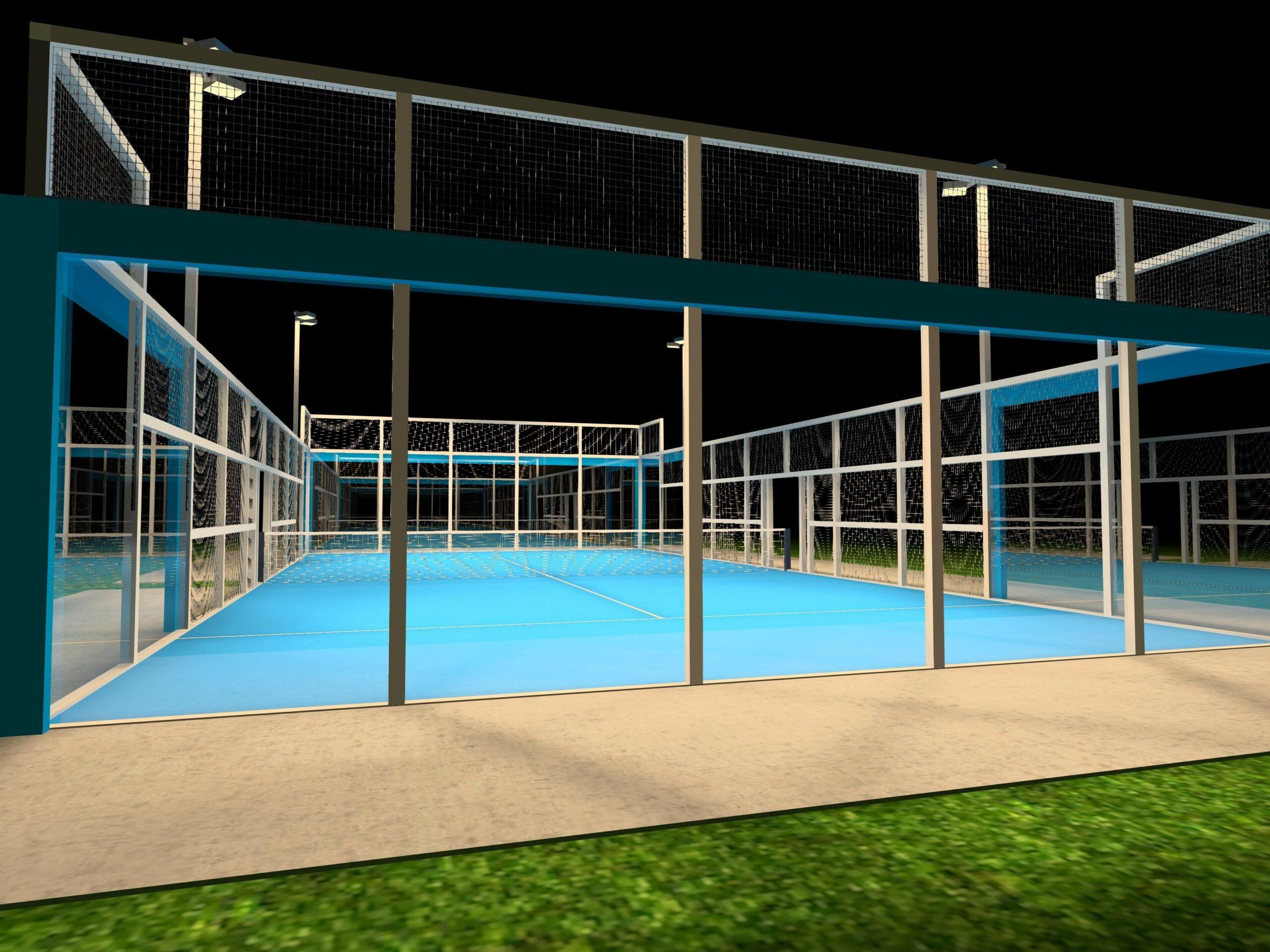 Padel Court LED Beleuchtung Flutlicht SML LED