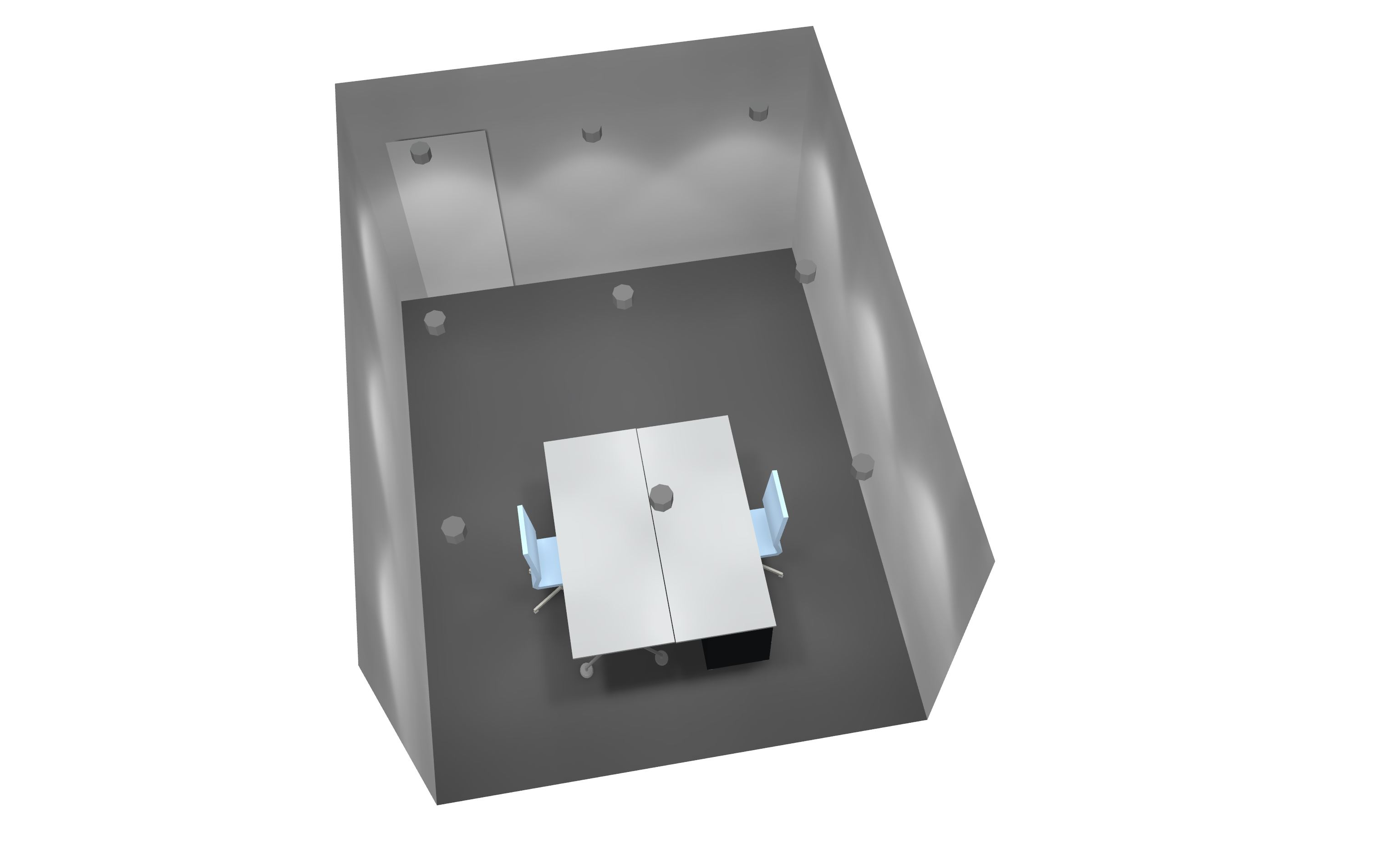 Planungshilfe LED Beleuchtung LED Downlight in Bandraster 3 Achsen