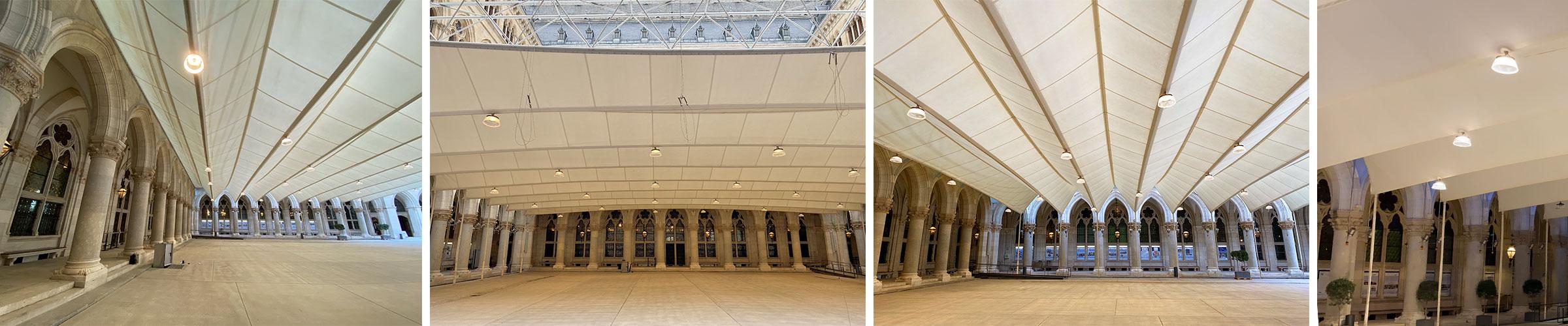 Rathaus Wien SML LED Hallenleuchte Titan mit smartCon ZigBee Steuerung