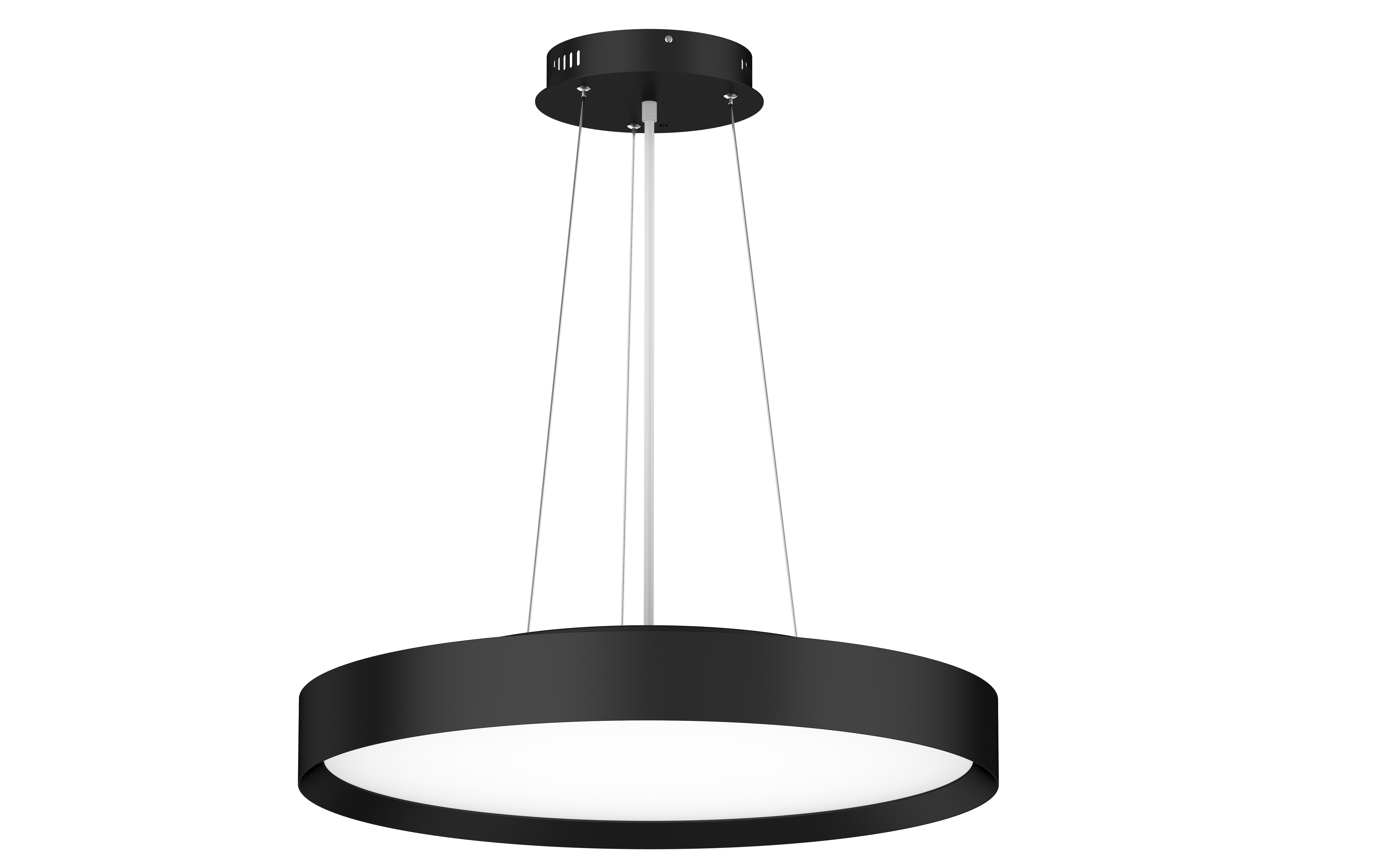 LED Hängeleuchte mit Seilabhängung Roma curvy