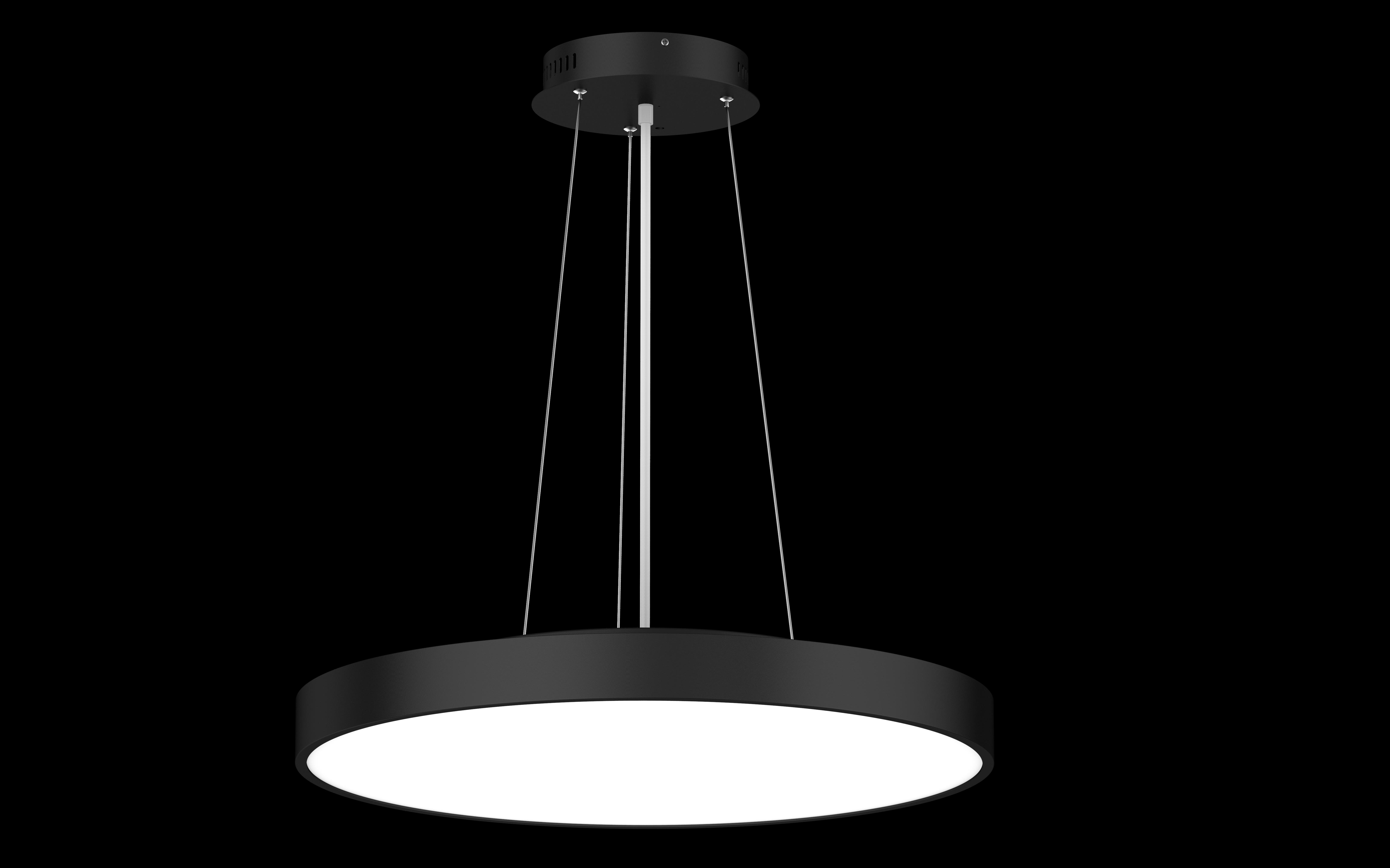 LED Hängeleuchte mit Seilabhängung Roma flat