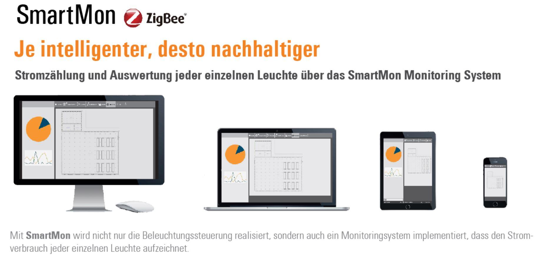 smartmon ZigBee Lichsteuerung von SML mit integrierter Stromzählung