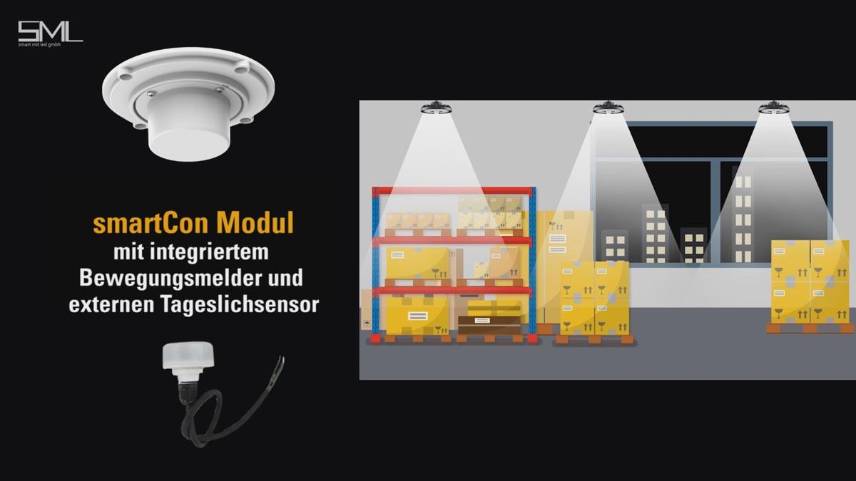 SML LED smartCon ZigBee Modul mit Bewegungsmelder und externen Tageslichtsensor