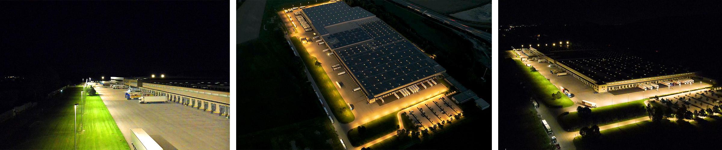 SML LED Hofer Stockerau Aussenbeleuchtung mit Flutlicht